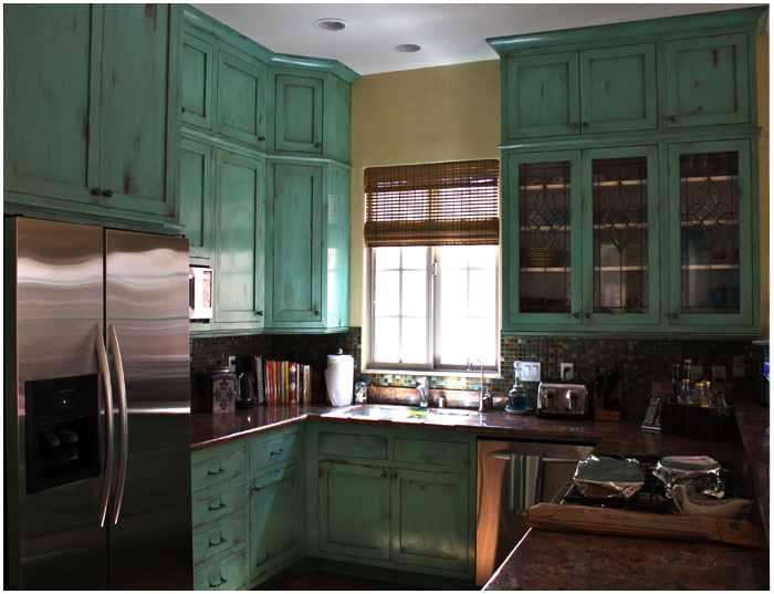 Painter Genie » Refurbish old kitchen cabinets